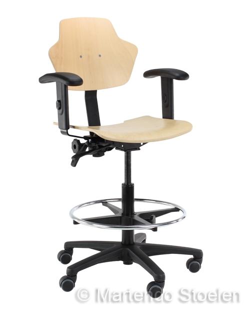 Werkstoel Score Spirit 1501 beuken, betaalbare kwaliteit