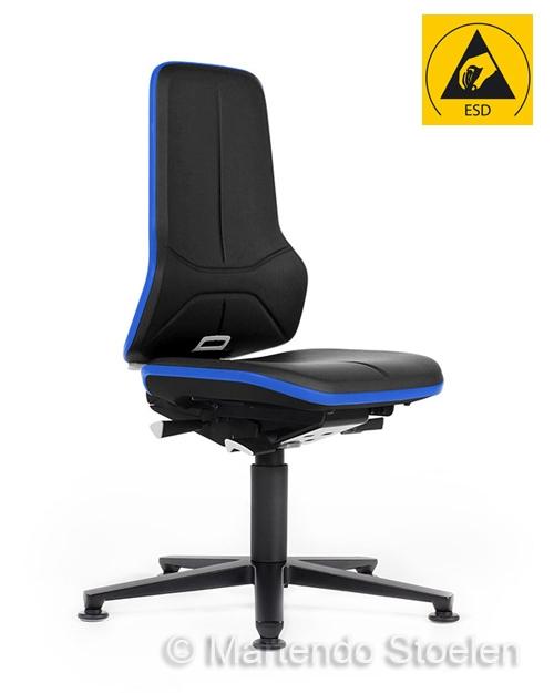 Werkplaatsstoel Bimos ESD Neon 1 met synchroontechniek