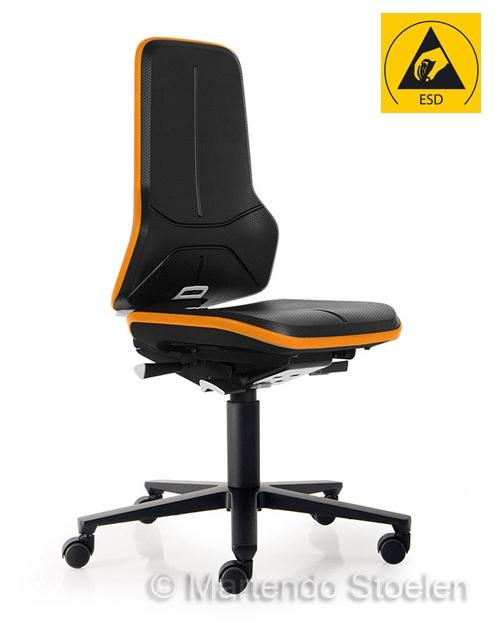 Werkplaatsstoel Bimos ESD Neon 2 met synchroontechniek