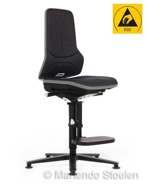 Werkplaatsstoel Bimos ESD Neon 3 met synchroontechniek