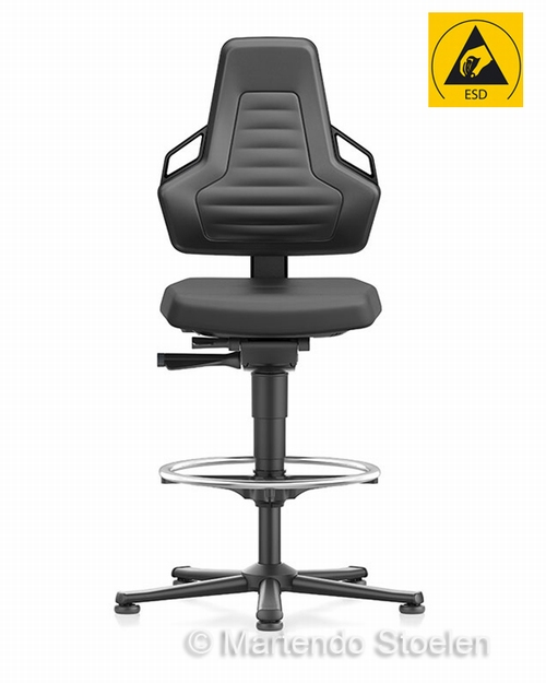 Werkplaatsstoel Bimos ESD Nexxit 3 met glijders