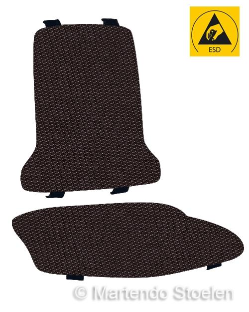 Bimos Sintec Kussenset Textiel Duotec ESD zwart