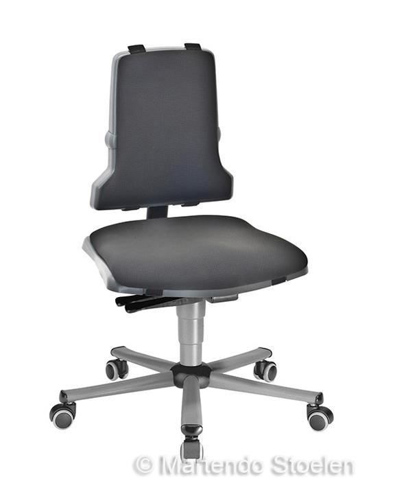 Werkplaatsstoel Bimos Sintec 2 synchroontech gewichtsinstel.