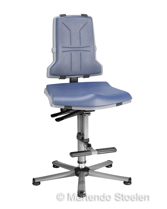 Werkplaatsstoel Bimos Sintec 3 synchroontech. gewichtsinstel