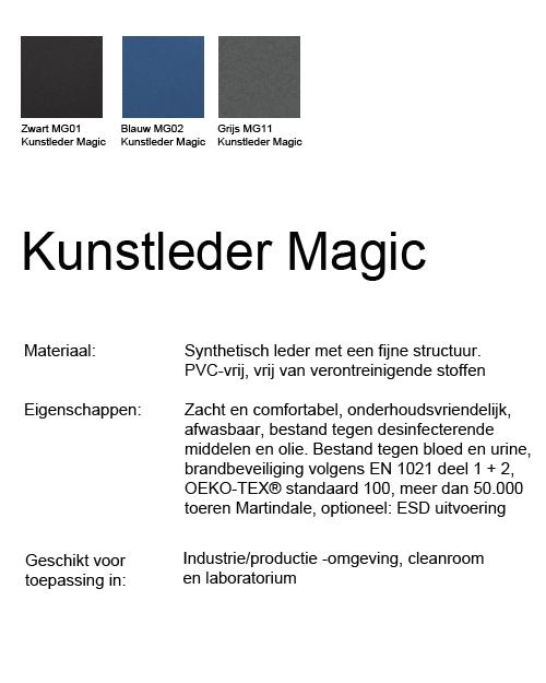 Bimos Neon Kussenset Kunstleder Magic Grijs