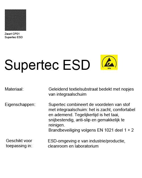 Bimos Neon Kussenset Supertec ESD Zwart