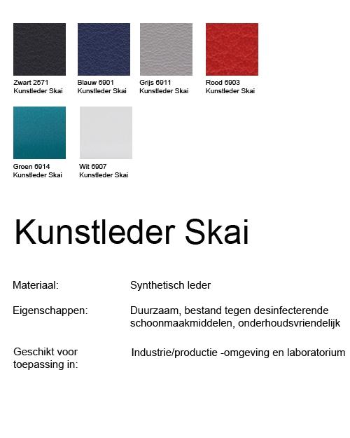 Bimos Sintec Kussenset Lendesteun Kunstleder grijs