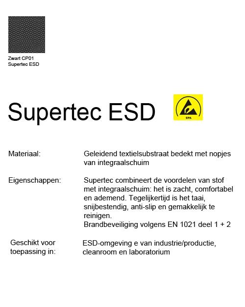Bimos Sintec Kussenset Lendesteun Supertec ESD zwart