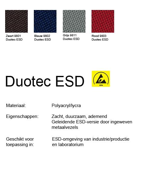 ESD werkplaatsstoel ESD Unitec 3 met glijders en voetenring