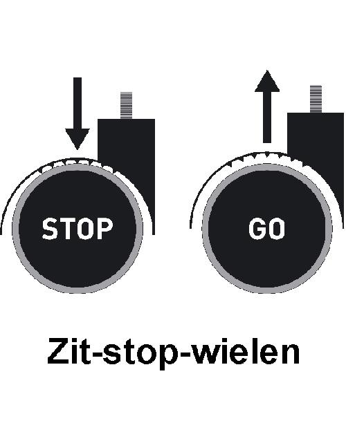 Kassastoel Bimos Neon 2 synchroontechniek met wielen
