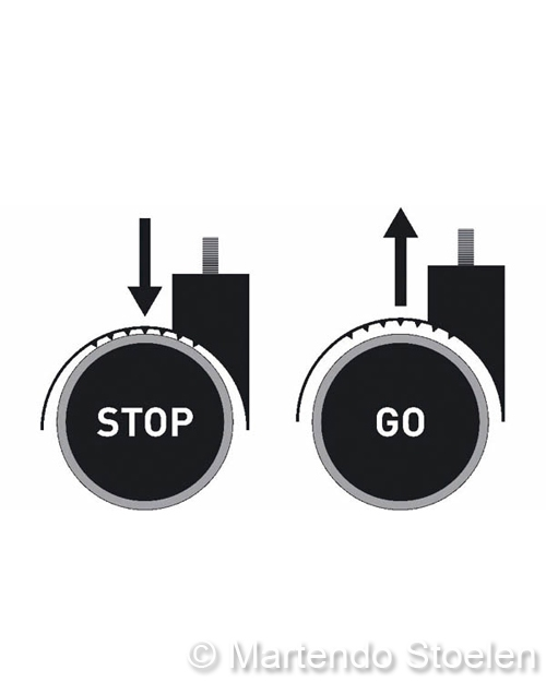 Kassastoel Bimos Sintec 2 permanentcontact met wielen
