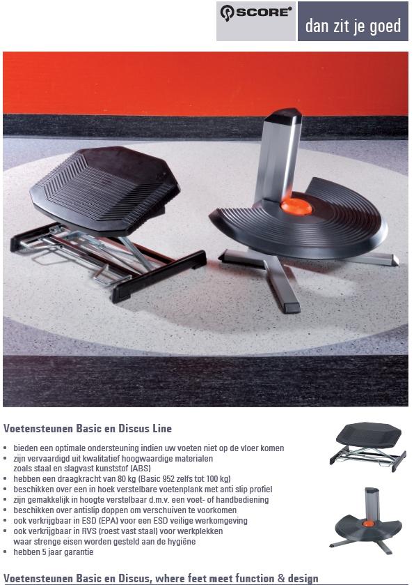 Score Voetensteun ESD Basic 952 ESD voetbediend 8-29 cm.
