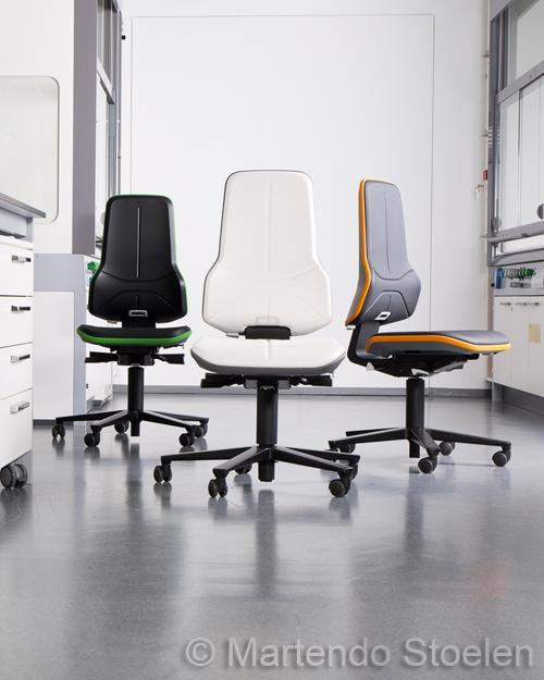 Werkplaatsstoel Bimos Neon 2 permanentcontact met wielen