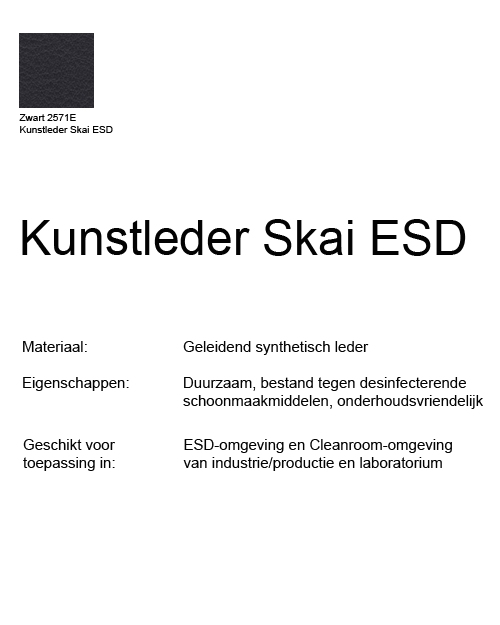 Werkstoel Bimos ESD Sintec 1 permanentcontact met zitneig
