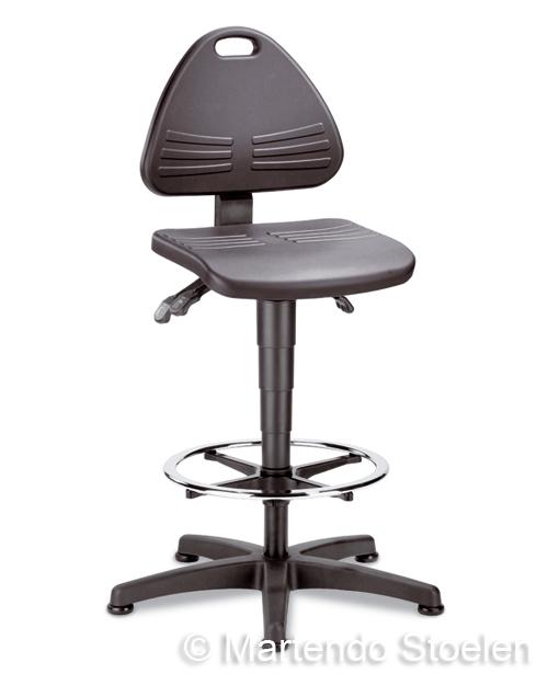 Werkstoel Bimos Isitec 3 met glijders en voetenring in Pur