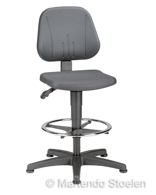 Werkstoel Bimos Unitec 3 met glijders en voetenring Beuken