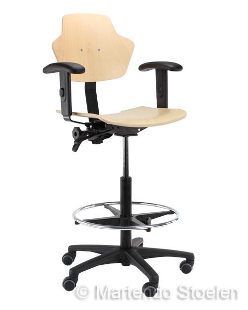 Werkstoel Score Spirit 1502 beuken, hoge uitvoering