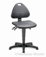 Werkplaatsstoel Bimos Isitec 1 met glijders in Pur
