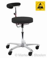Score Werkstoel Medical 6260 met draaibare rug/armsteun ESD