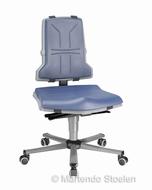 Werkstoel Bimos Sintec 2 permanentcontact+zitneig+wielen