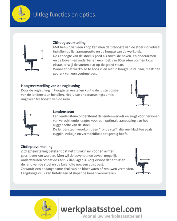 pdf Uitleg functies en opties werkstoelen
